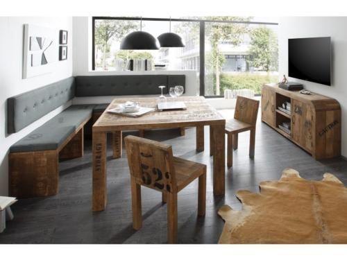 sitzbank eckbank massiv mangoholz gewachst 180 180cm neu. Black Bedroom Furniture Sets. Home Design Ideas