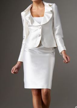 Womens white dress suit wedding