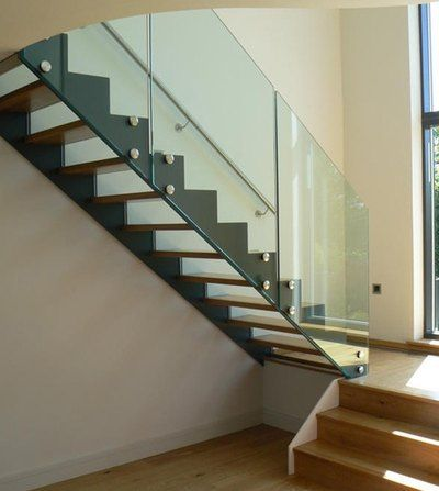Baranda cristal escaleras barandas cristal pinterest - Barandillas escaleras modernas ...