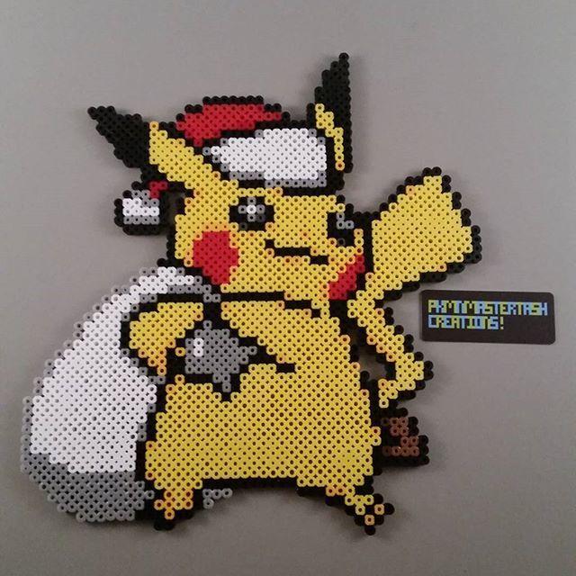 Pikachu Père Noël Pikachu Pixel Art Dessin Pixel