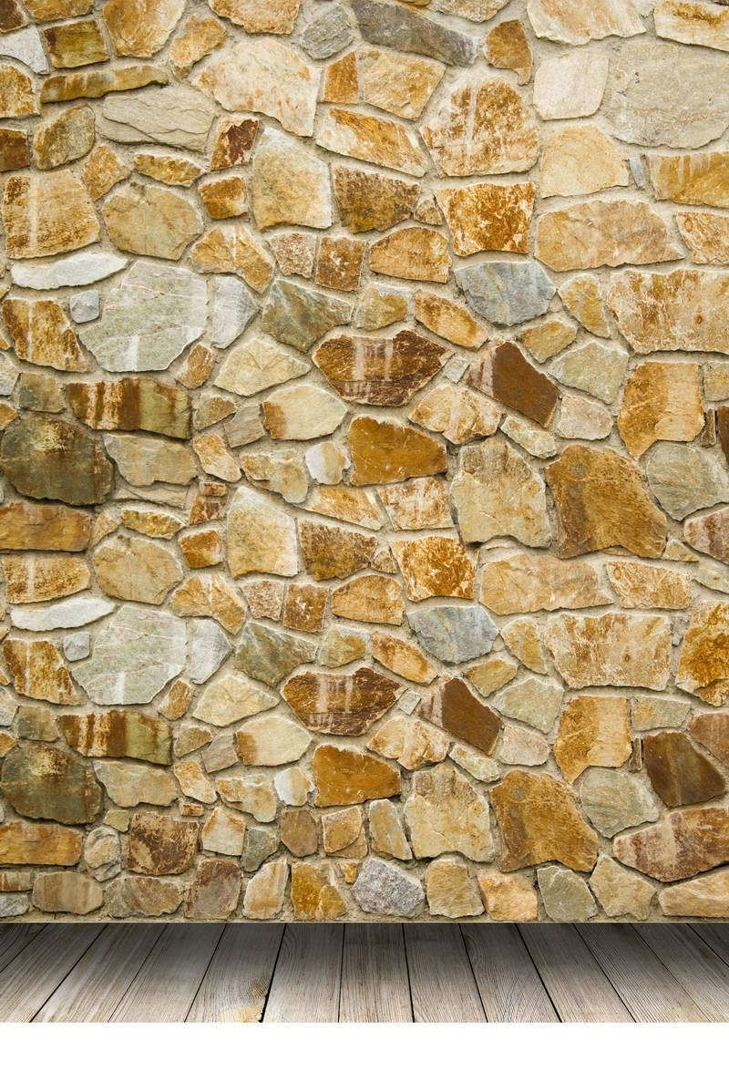 Click to Buy << 5x7ft Light Color Bricks Wall Vintage Wooden Floor ...