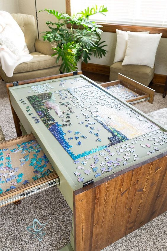 Diy Puzzle Game Table Puzzle Table Puzzle Table Home