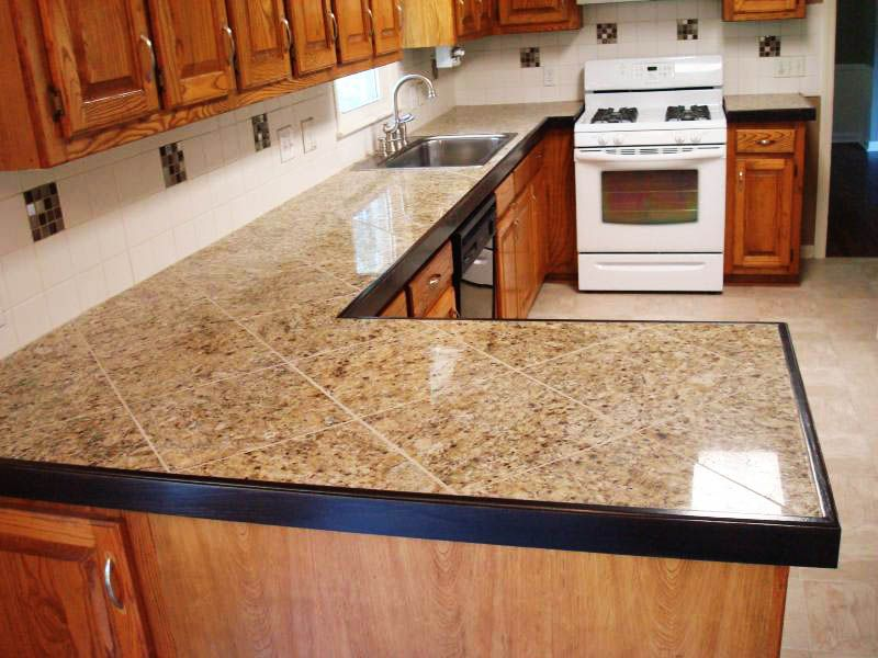 ideas of tiled kitchen countertops httpwwwthefridgenet - Tile Kitchen Countertops Ideas