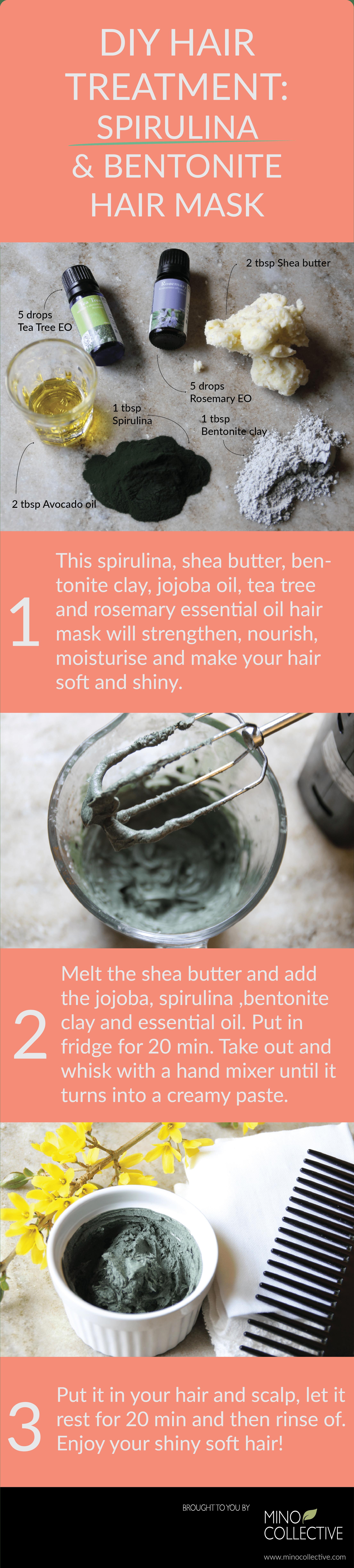This Diy Spirulina And Bentonite Clay Detoxifying Hair Mask Will