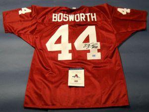 c24fc3da7  170.44 Autographed Brian Bosworth Authentic Style Custom Oklahoma Sooners  Crimson Jersey. Brian even added