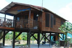Wooden House On Stilts, Corozal, Belize U2013 Basic Homes Here In Belize Are  Built On Stilts Because In This Country Thereu0027s A Lot Of Rainfall, Thereu0027s  A Lot Of ...