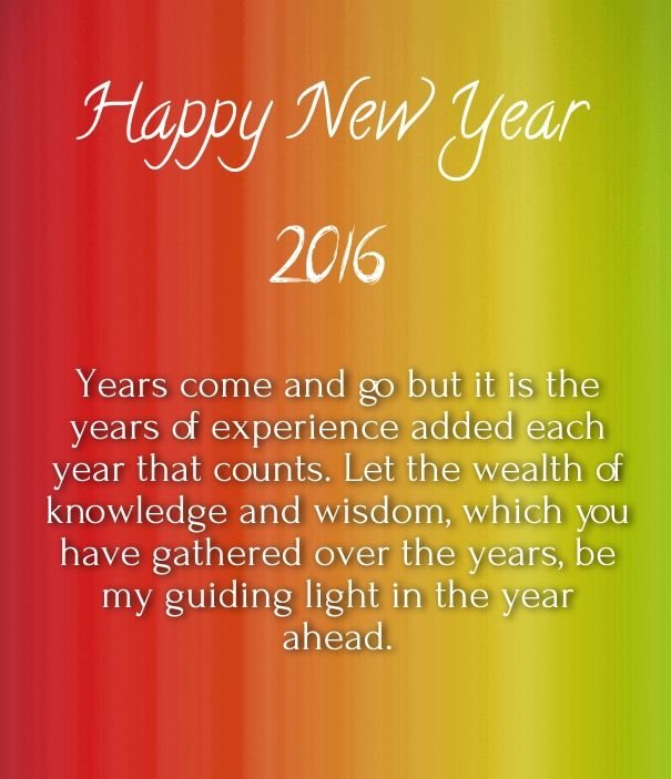 Happy New Year 2016 Wishes for Elders - Happy New Year ...