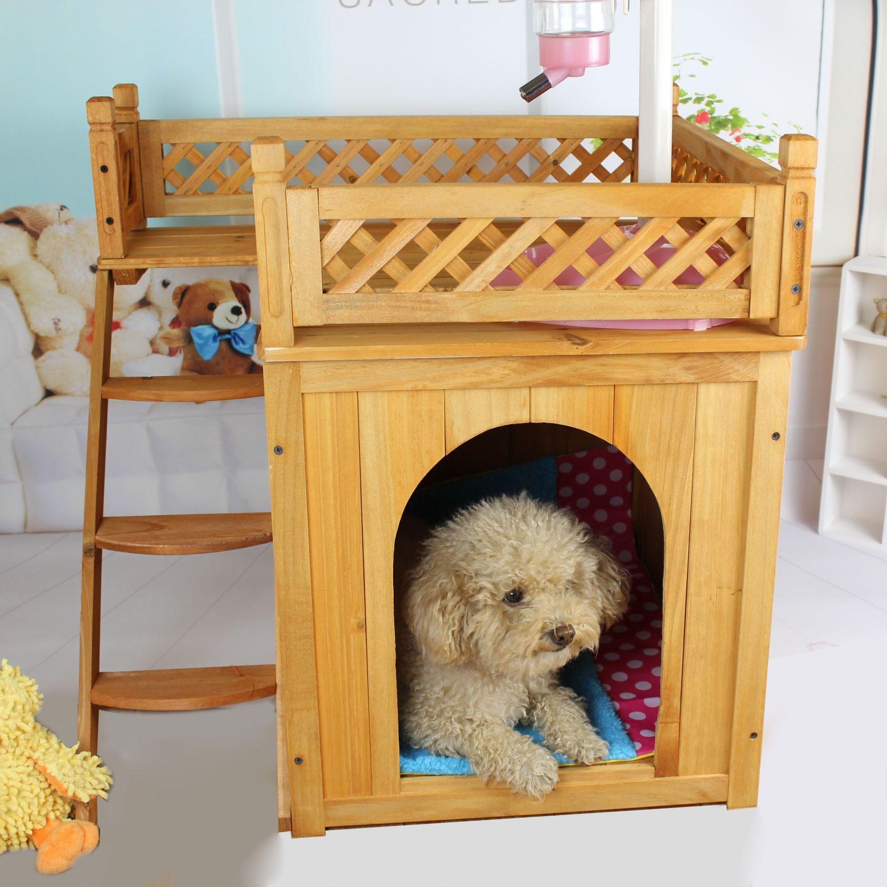 chenil nid d 39 animal de compagnie cage en bois log cabin chien petits chiens chat en peluche. Black Bedroom Furniture Sets. Home Design Ideas