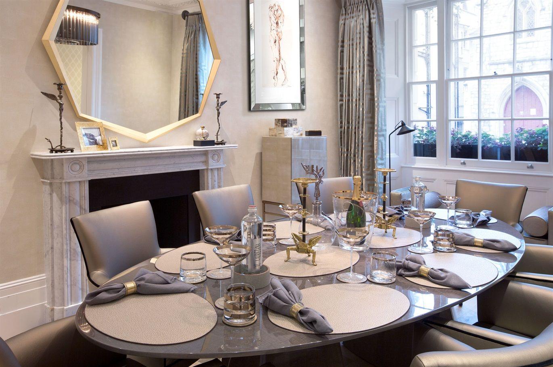 Davidson London  Empire Table In Sycamore Stone Interior Design Custom Dining Room Empire Inspiration