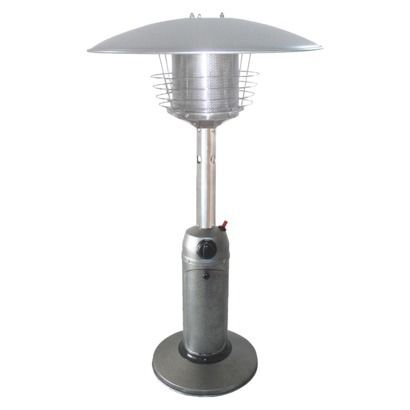 Portable Hammered Silver Heater Patio Heater Tabletop