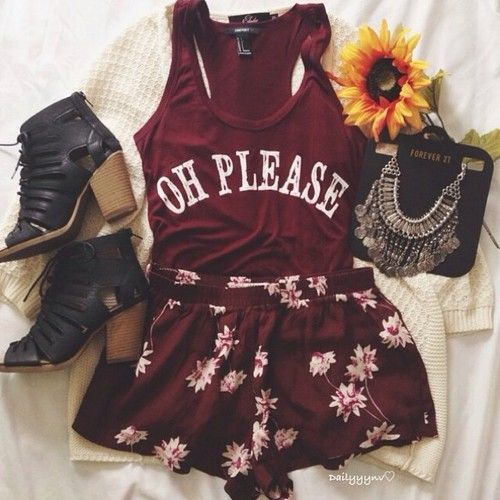 Teenage Fashion Blog: Oh Please Baby I Love This Teenage Outfit