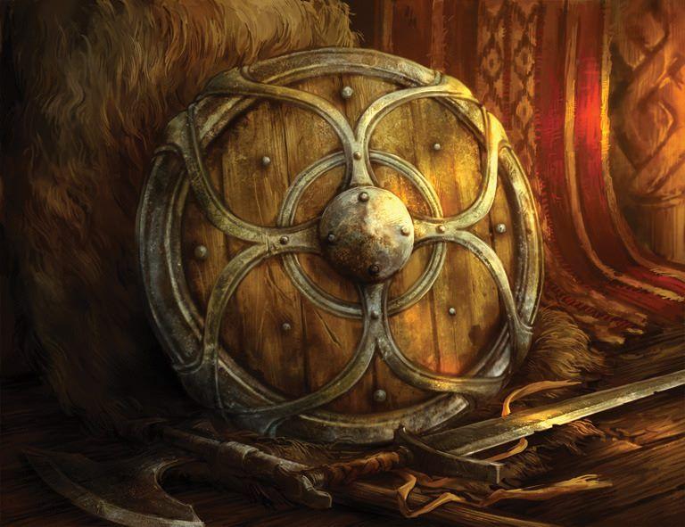картинки фэнтези щитов с мечами основном, подобный