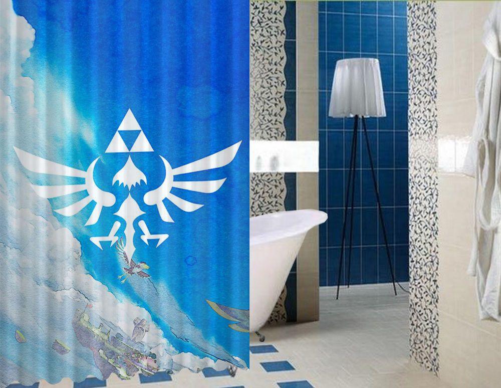 Rare Legend Of Zelda Triforce High Quality Custom Shower Curtain