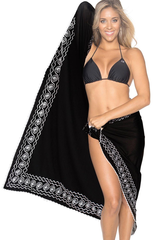 37e3e4f407 Sarong Bathing Suit Pareo Wrap Bikini Cover ups Womens Skirt Swimsuit  Swimwear Pareo