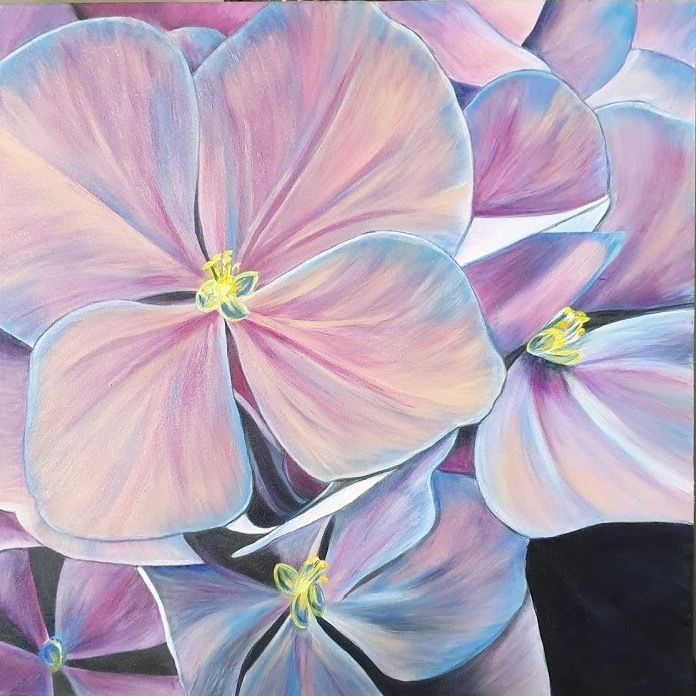 """""""Timeless Hydrangeas"""" by Jade T Fisher. Paintings for Sale ..."""