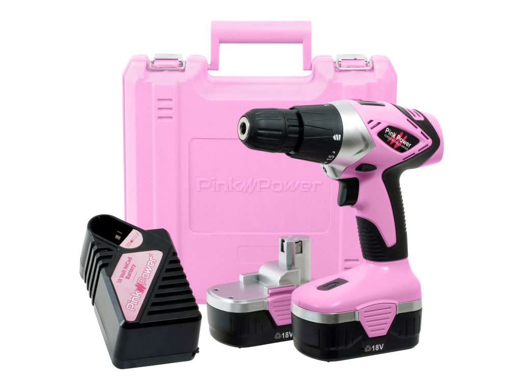 Pink Ladies outil 135 pcs Set with Female Design Case Home Main Power Tool Kit