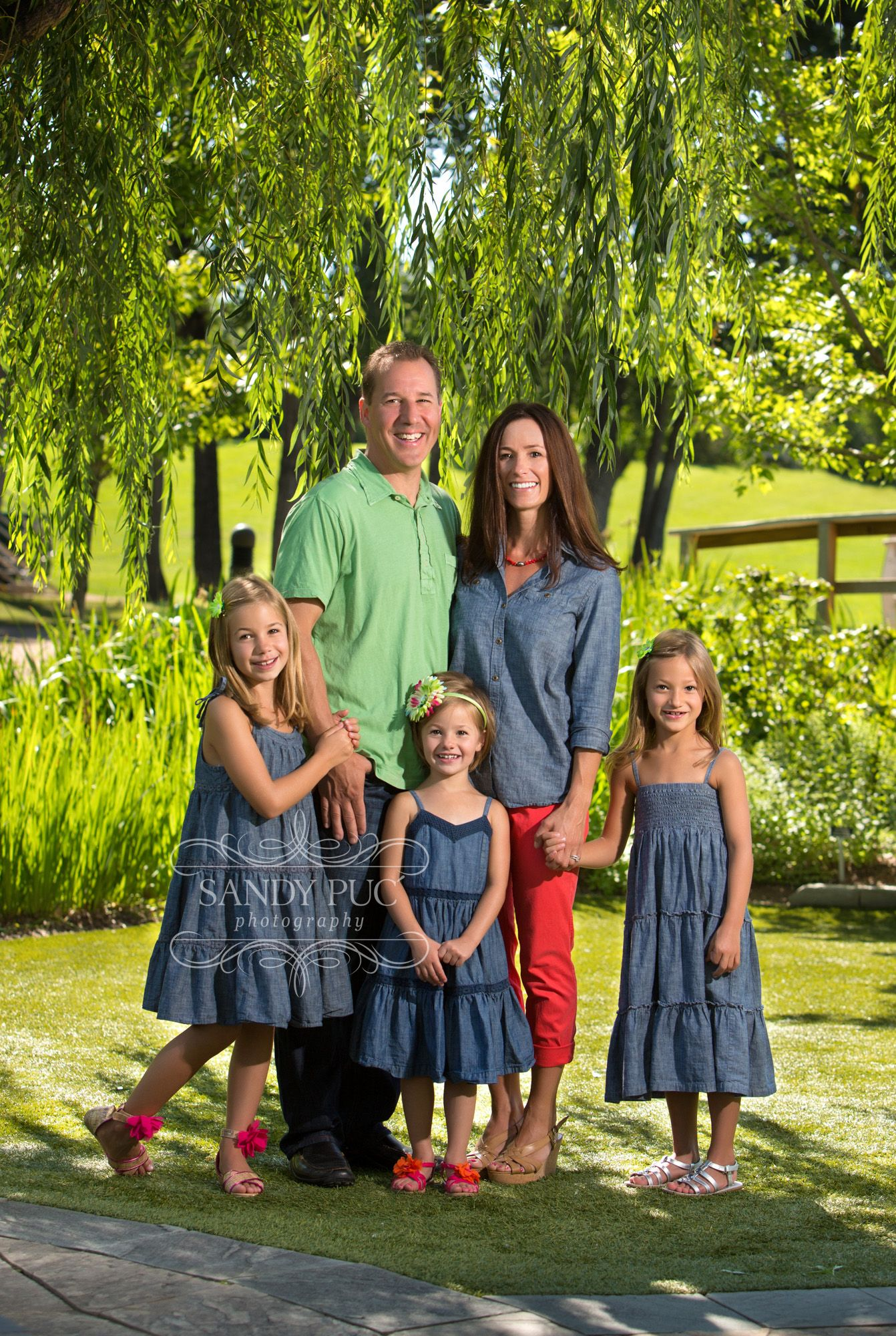 Family Portrait Clothing Summer Outdoor