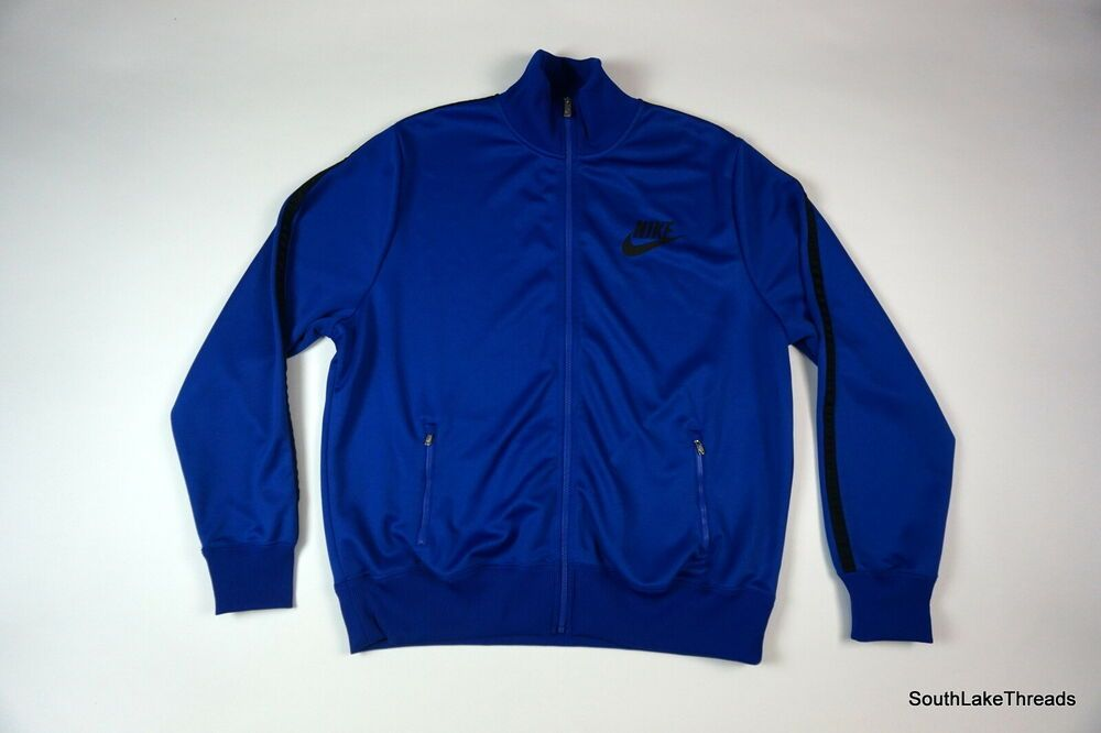 Men S Nike Big Logo Swoosh Spellout Track Jacket Blue Black Sz Xxl Fashion Clothing Shoes Accessories Mensclothing Activewear Ebay Activewear In 2019