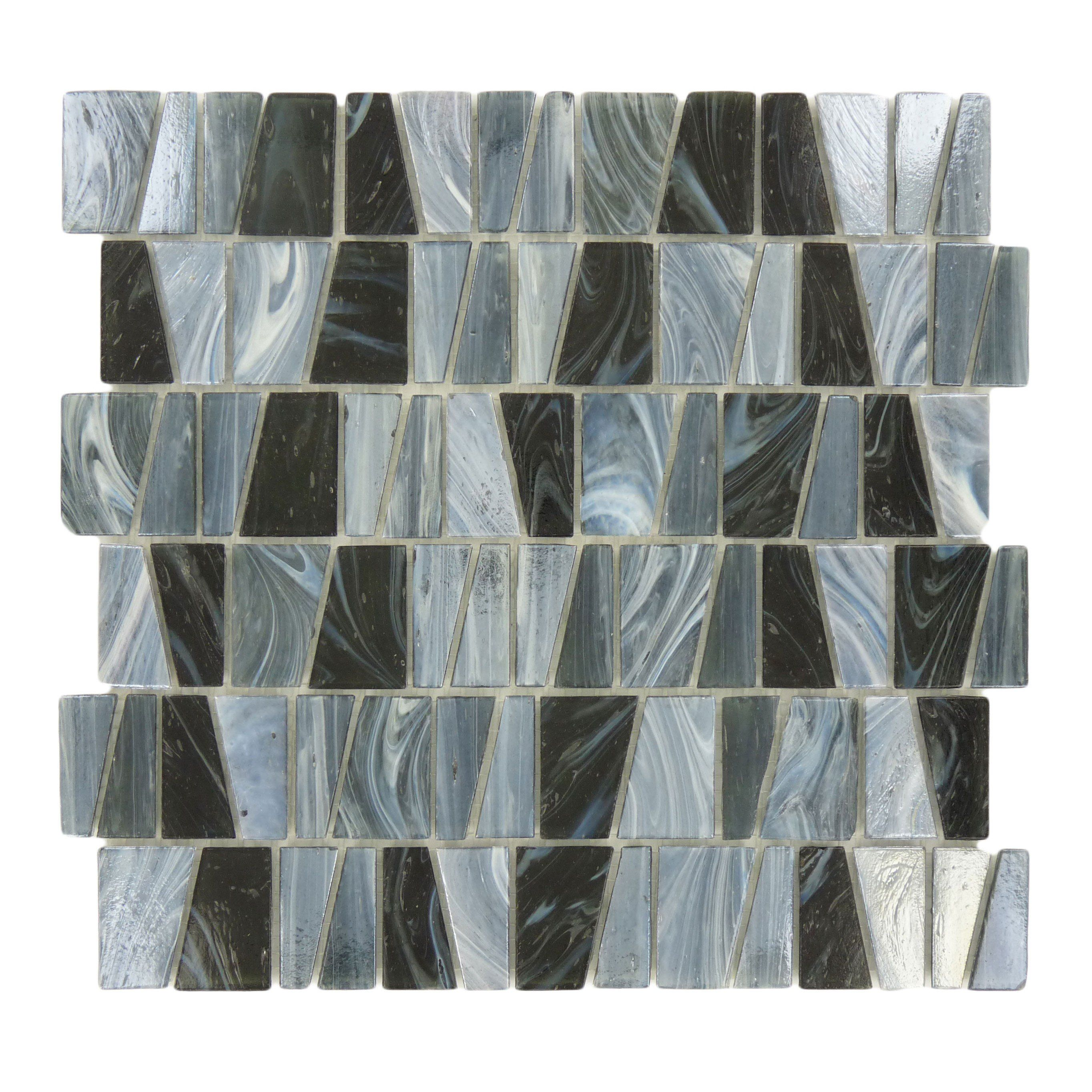Sheet Size 12 3 8 X 11 3 4 Tile Size Variable Tile Thickness 3 16 Nominal Grout Joints 1 8 Sheet Mou Grey Glass Tiles Grey Glass Grey Stain