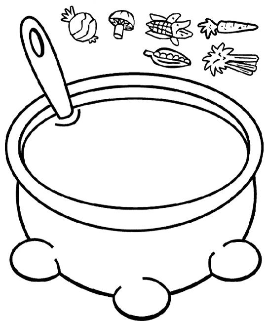 Growing Vegetable Soup Coloring Page Toddler Sunday School