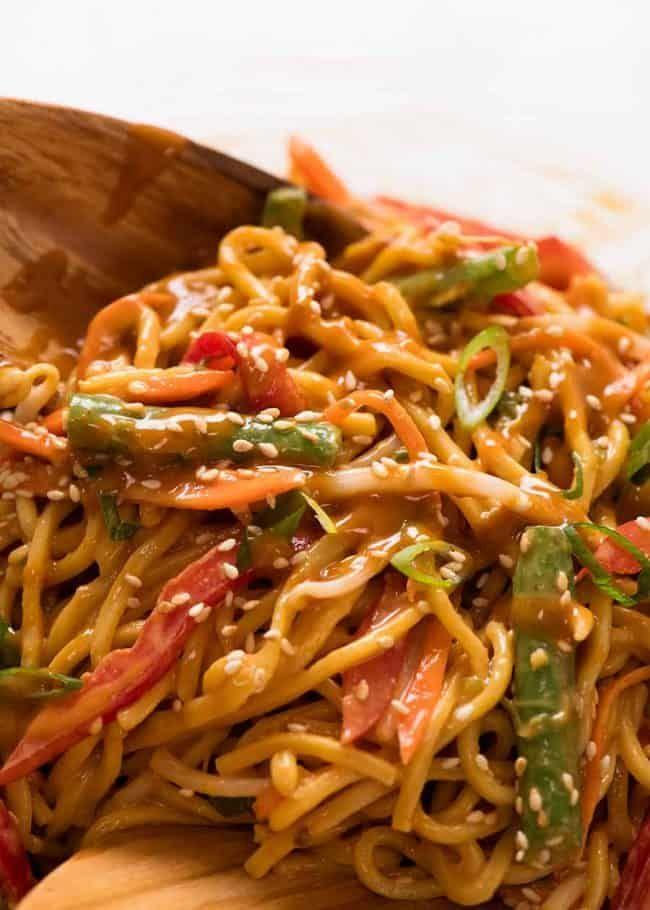 Noodle Salad With Creamy Sesame Peanut Dressing Recipe