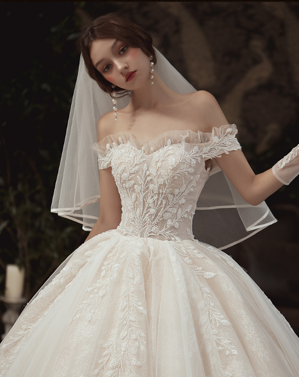 Photo of Luxury / gorgeous champagne wedding dresses 2020 ball gown