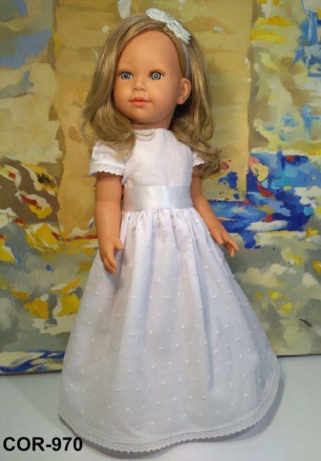 Dolls Shop - Coral Communion White Plumenti - Vestida De Azul - Diversal