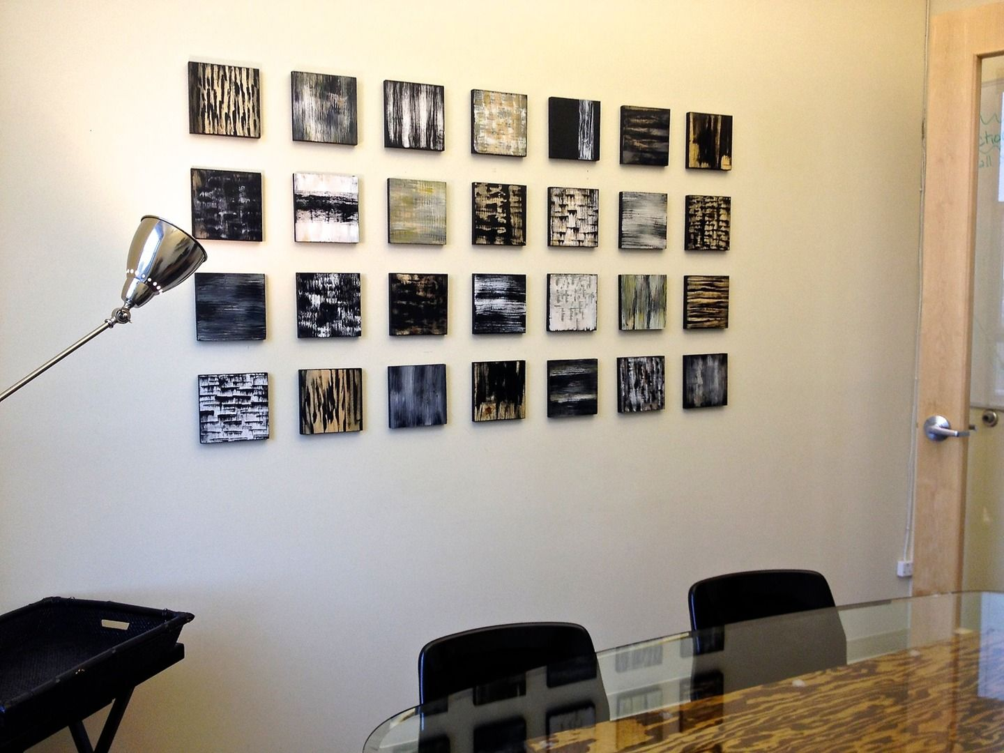 office wall art ideas. Office Artwork Ideas. Black And White Blocks Hanging In A Law -- By Wall Art Ideas M