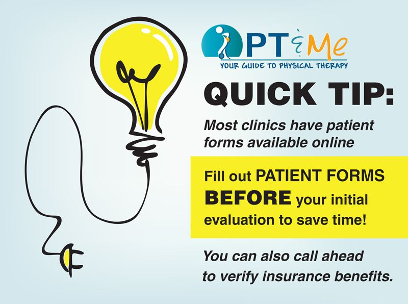 Quick Tips forms Physical therapy, Physics, Therapy