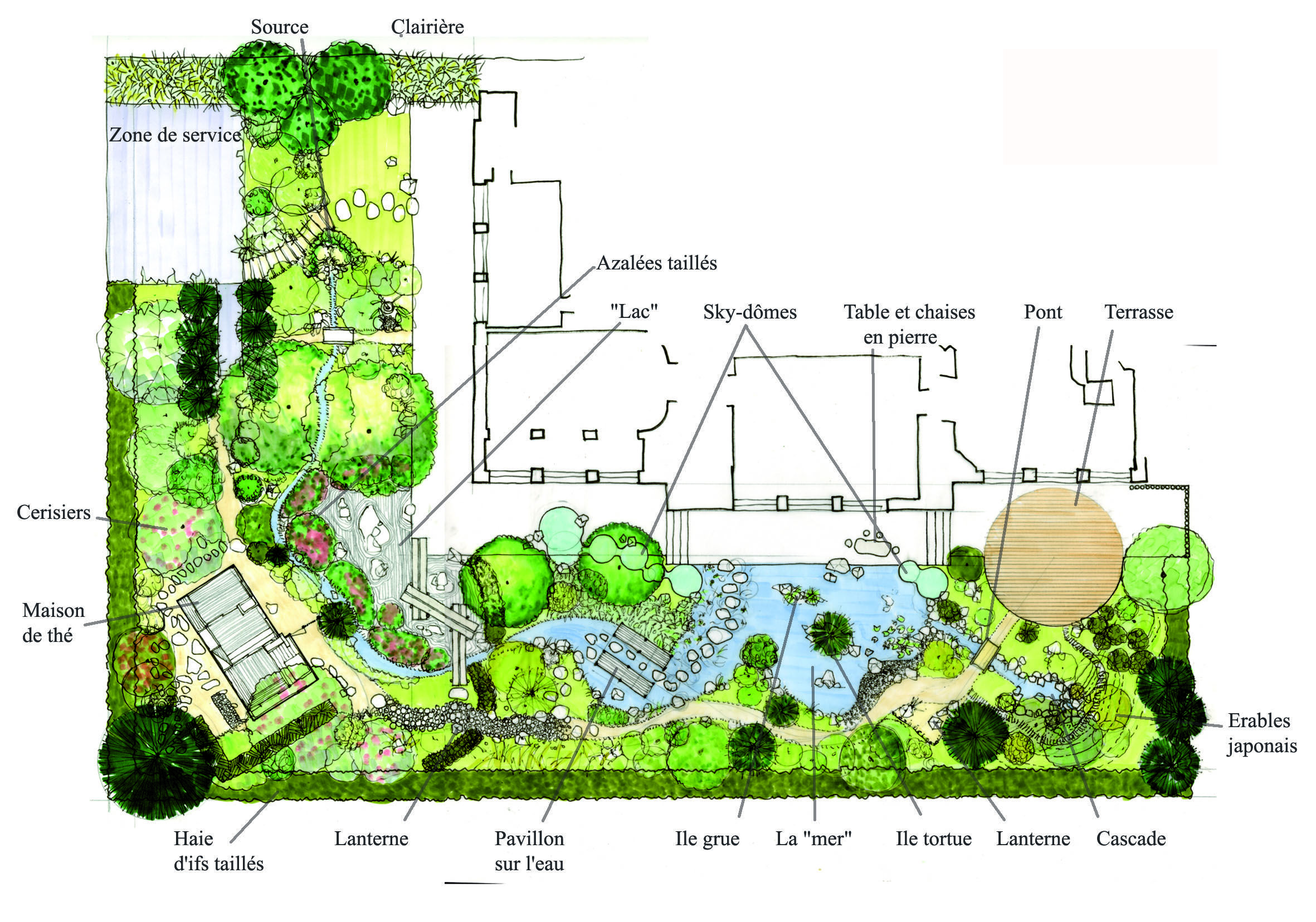 Conception D Un Jardin Japonais Un Plan Detaille City Of