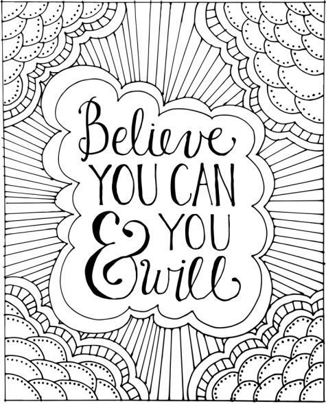Colouring Pages For Adults With Quotes : Free printable adult coloring book page from quot color me