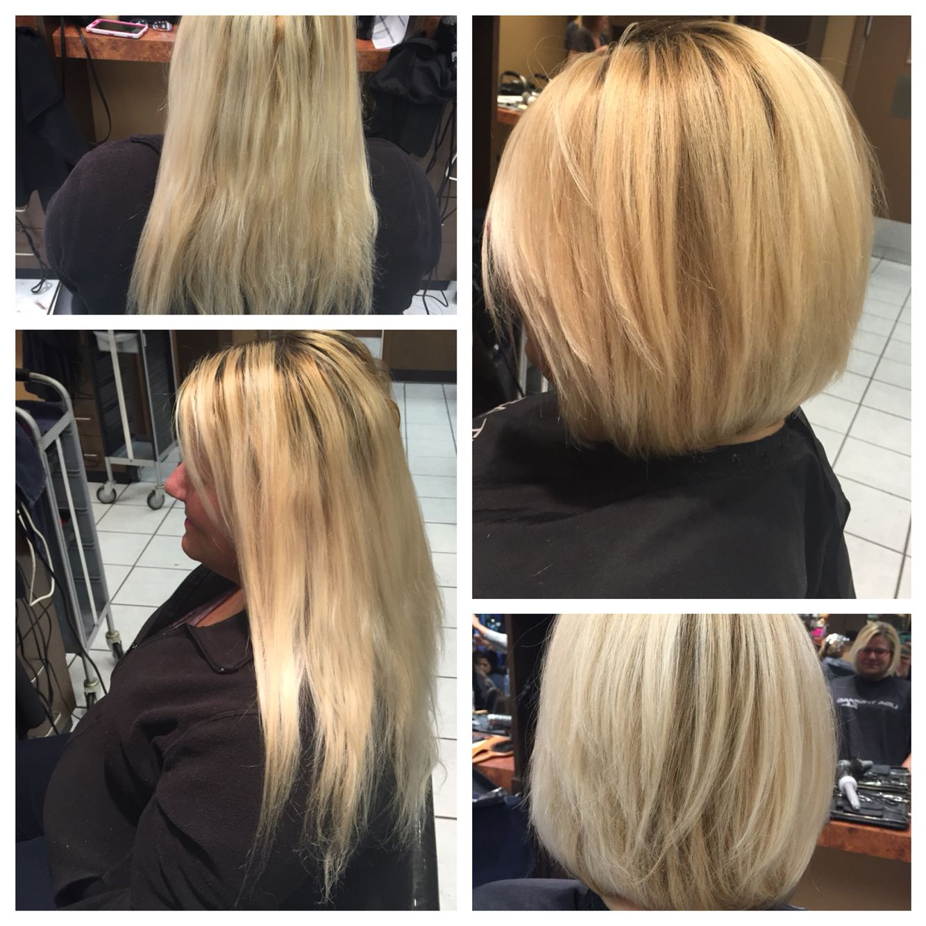 Before And After Haircut From Long And Lifeless Short And