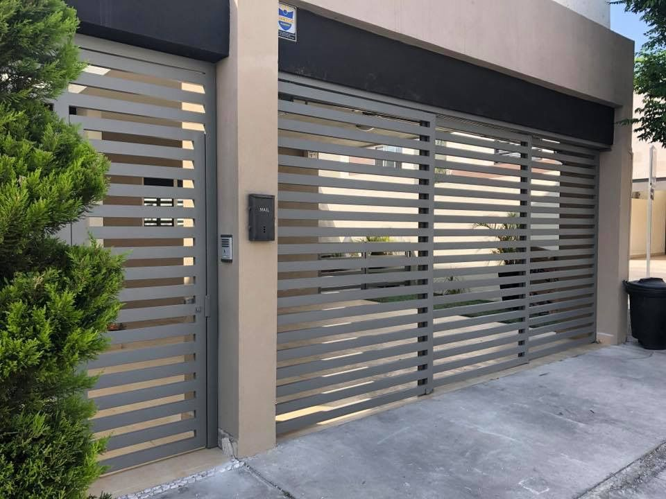 Pin De Hilda Velascoy En Fachadas Portones Modernos Para Casas Rejas Para Casas Modernas Puertas De Garage Modernas