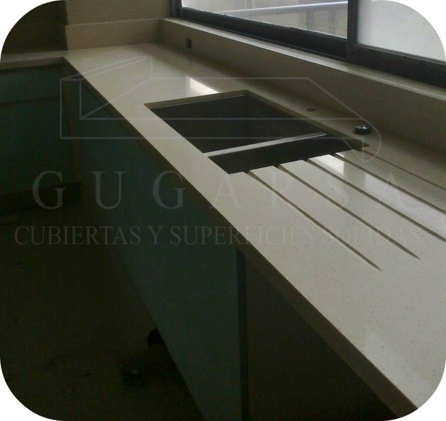 Cubierta de Cuarzo con escurridor labrado lineal. Informes en  ventas gugarsa.com.mx   cubiertasgugarsa hotmail.com 24f4cae0b77a