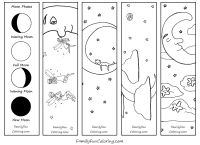 Bookmarks To Color Including Moon Phases Fairies Holidays Etc