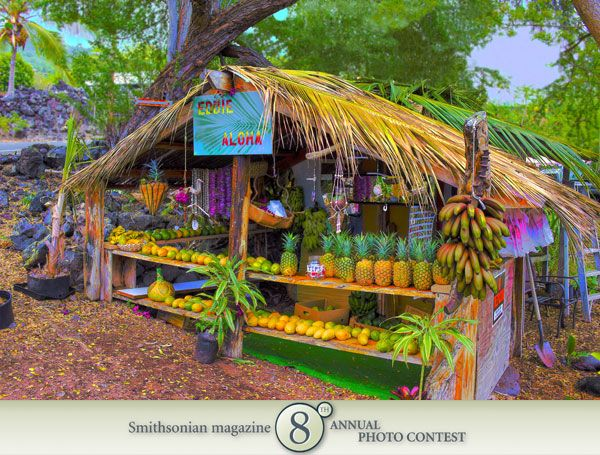"Photo of the Day - March 14, 2012: ""Fruit stand near Captain Cook's monument."" Taken by Ken Neagle (Lake Elsinore, CA). Photographed August 2009, Big Island, HI."