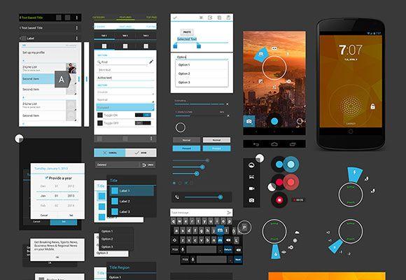 android 4 ui design kit psd freebiesbug