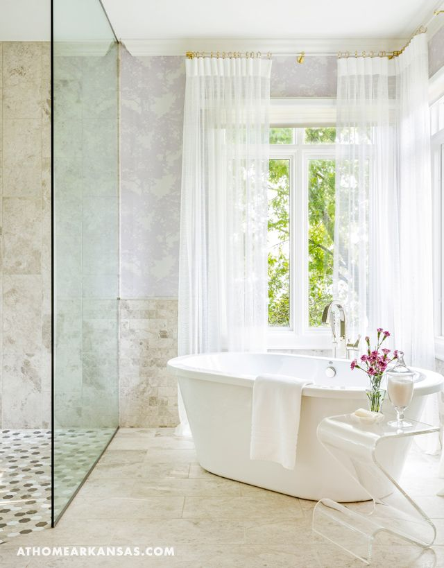 Freestanding soaker tub on a 45 degree angle is the perfect upgrade ...