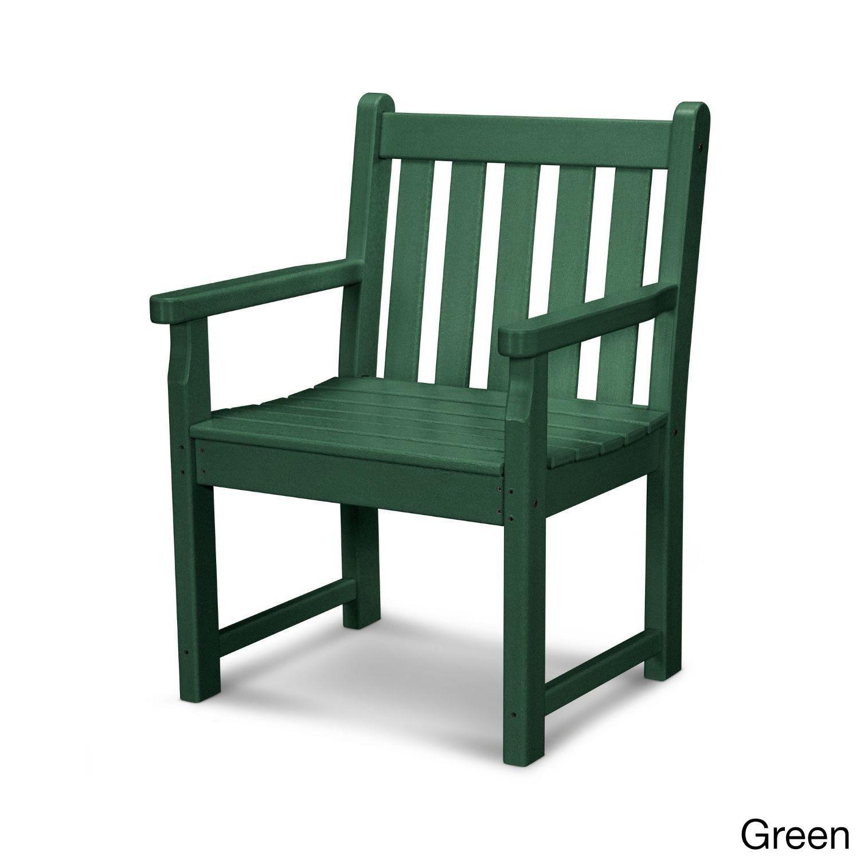 Polywood Polyethylene Traditional Garden Arm Chair (White), Patio Furniture  (Plastic) - Polywood Polyethylene Traditional Garden Arm Chair (White), Patio