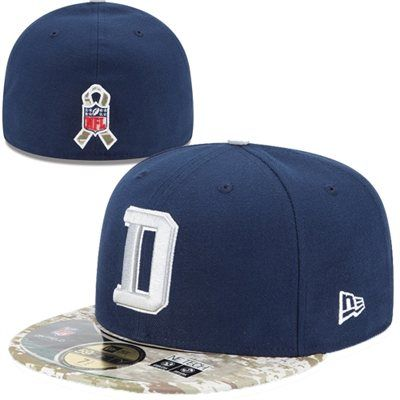 save off e5f6d 19d2c New Era Dallas Cowboys Salute To Service 59FIFTY Fitted Hat - Navy Blue   SalutetoService  Cowboys