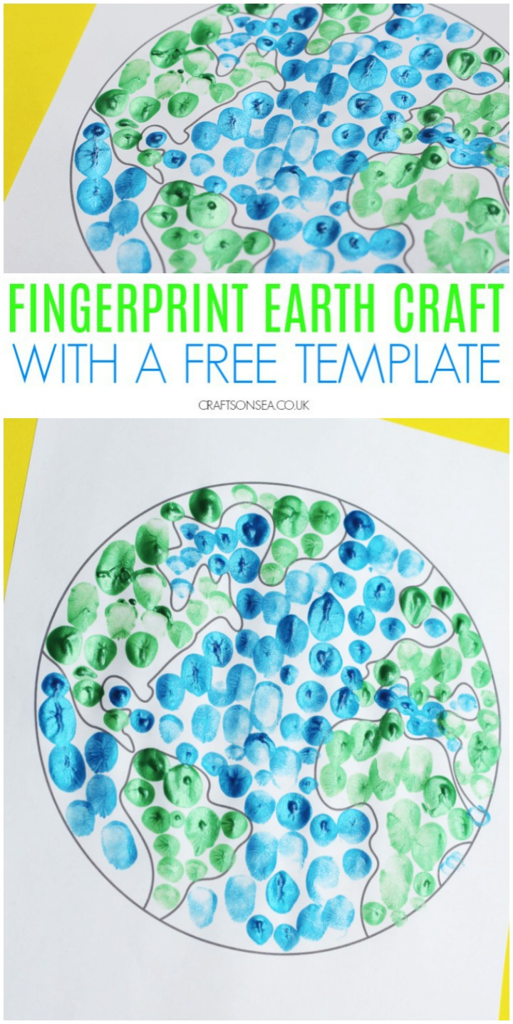 Finger Painted Earth Day Craft for Preschoolers