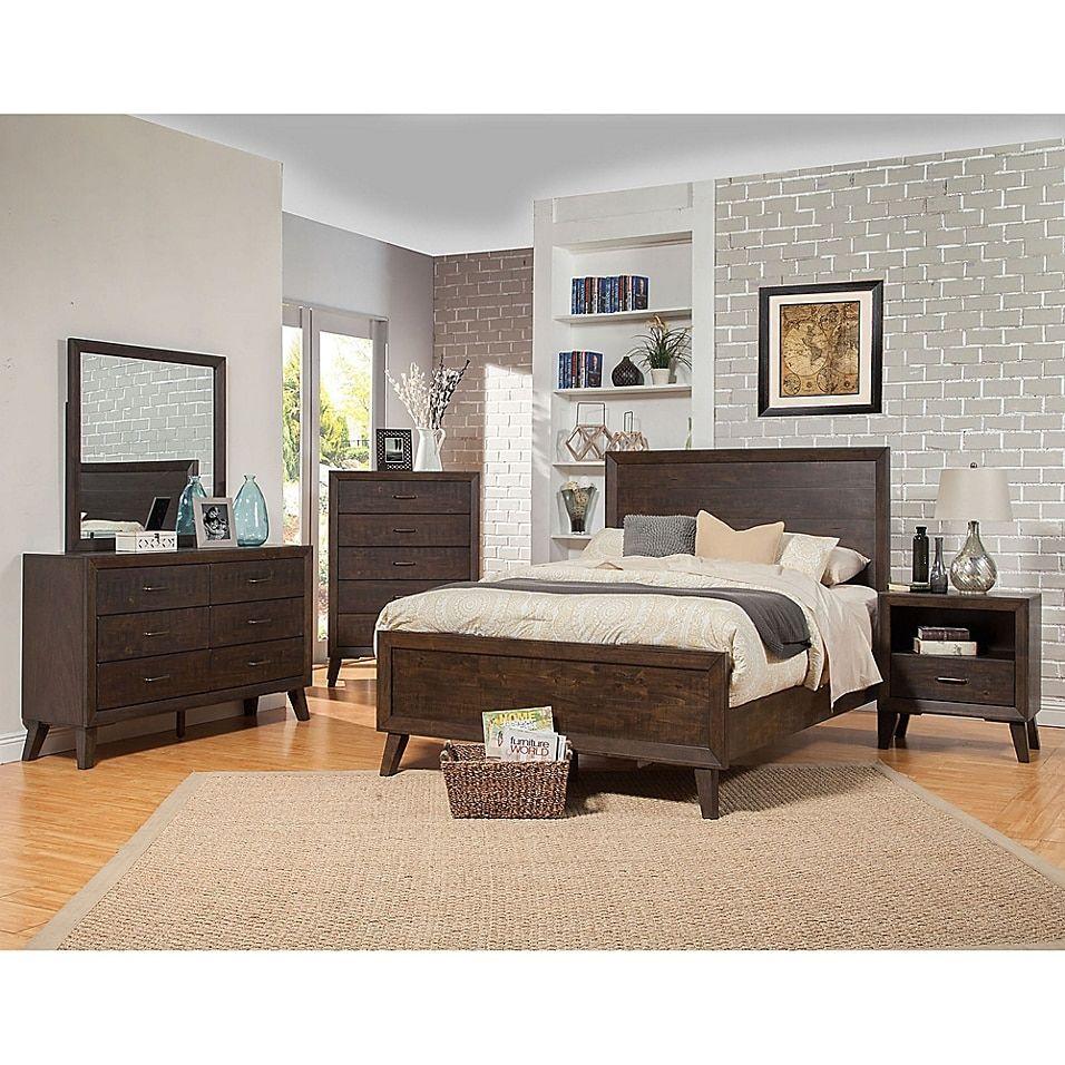Alpine Furniture Alcott 5 Drawer Chest In Tobacco In 2020 Alpine Furniture Bedroom Furniture Sets Bedroom Sets