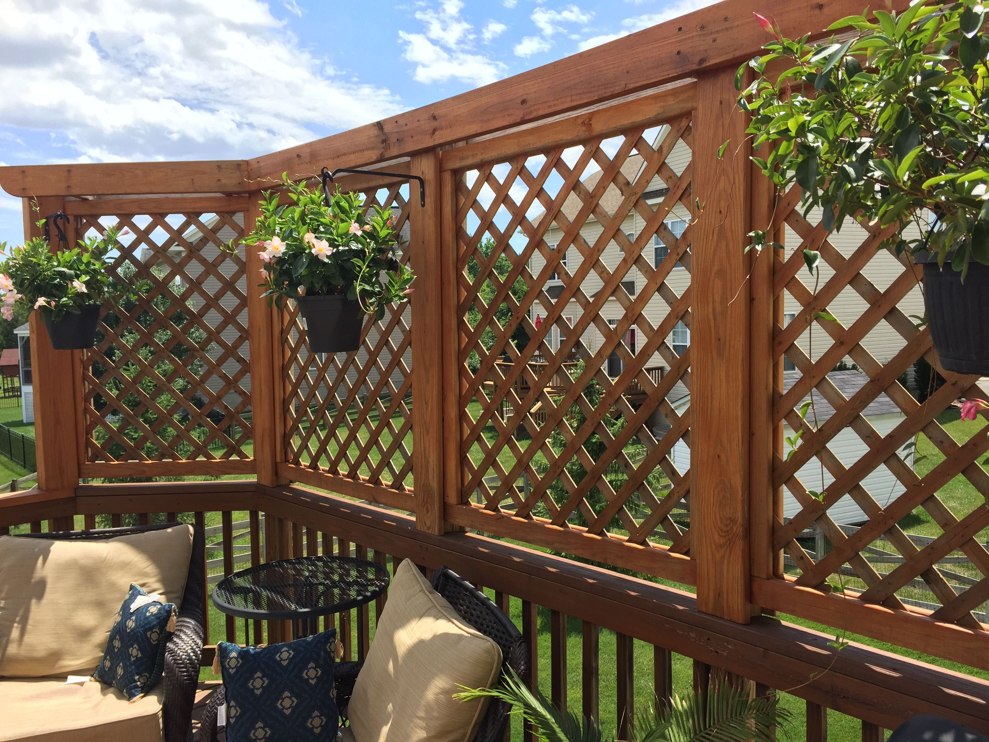 Lattice Privacy Wall 2 Outdoor Privacy Privacy Screen Outdoor