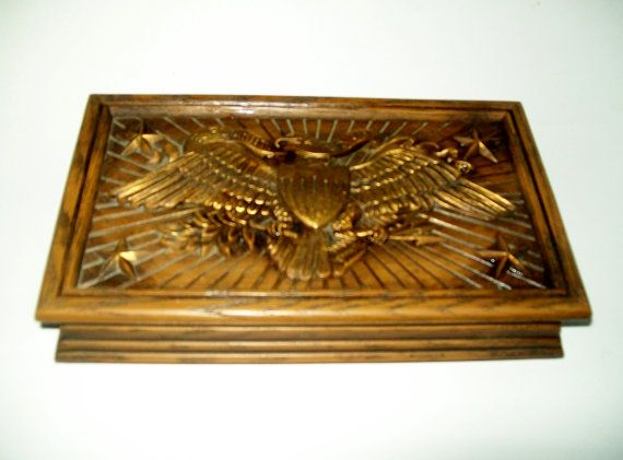 Vintage Avon Mens Jewelry Box Americana Eagle by NanNasThings For