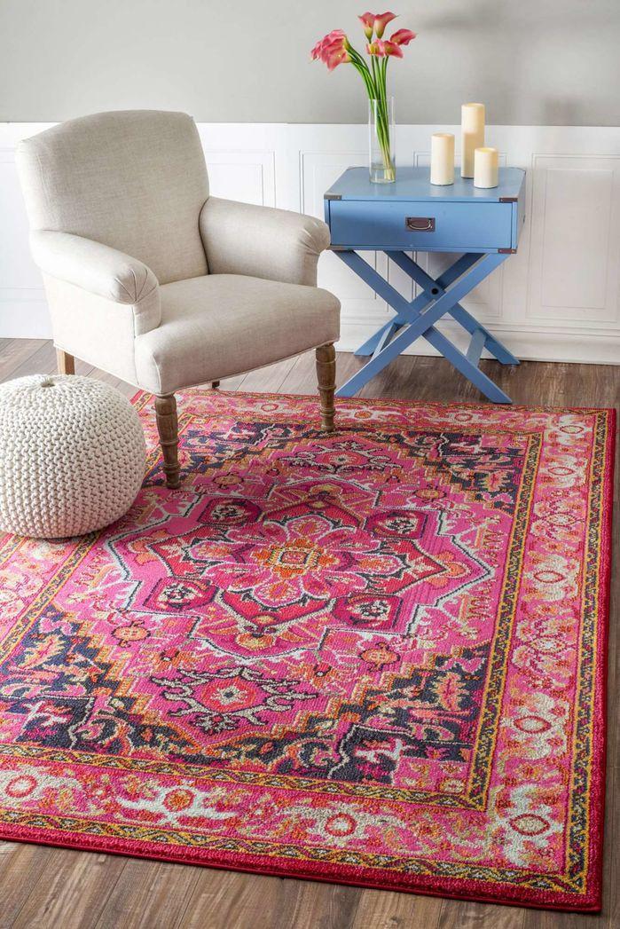 Sashi Pink Area Rug | Bungalow, Pillows and Modern