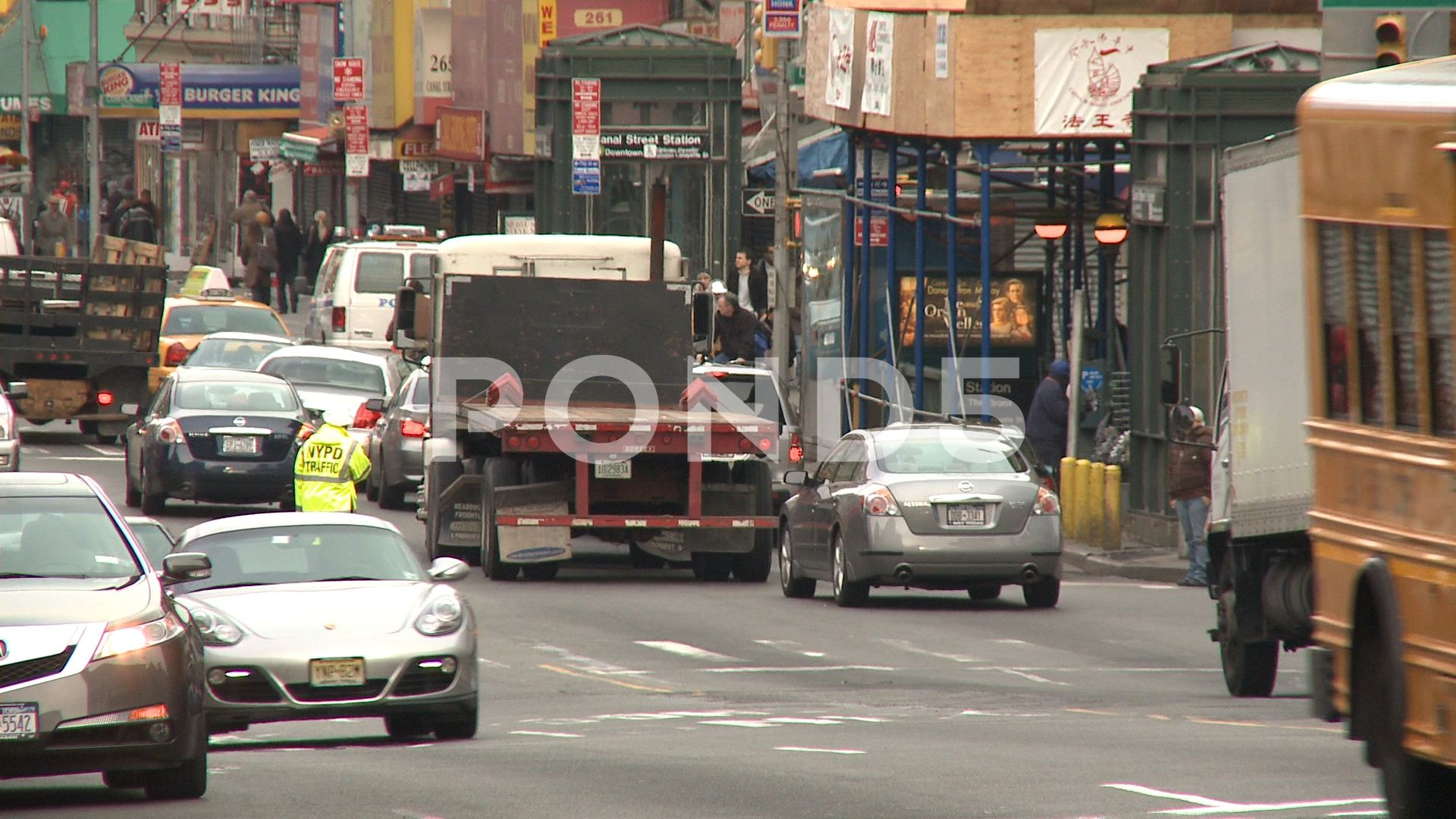 Busy street in New York City Stock Footage YorkstreetBusyFootage