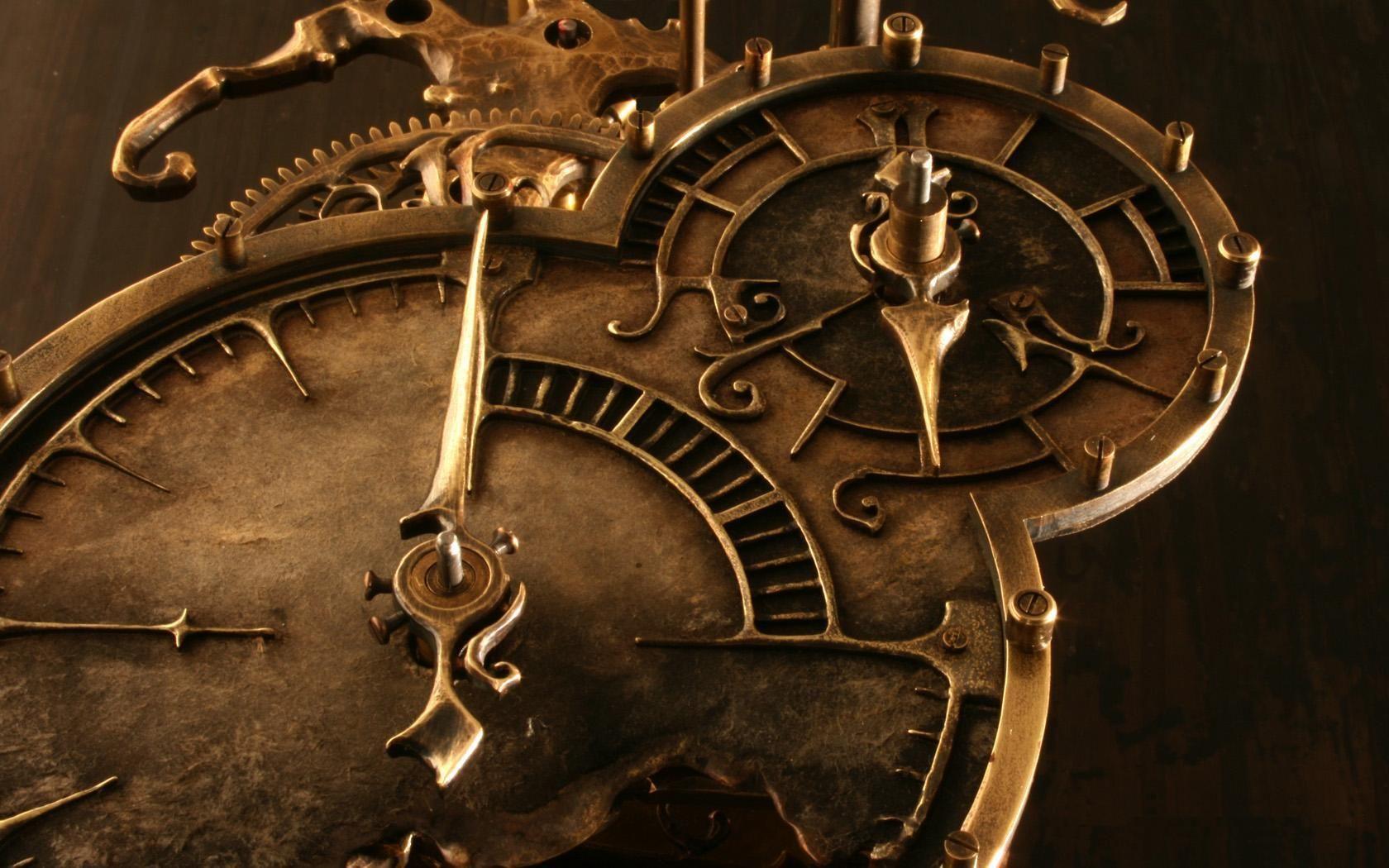 Обои — Старинный часовой механизм, красивые картинки, фото, заставки и обои  на рабочий стол | Steampunk wallpaper, Steampunk clock, Clock wallpaper