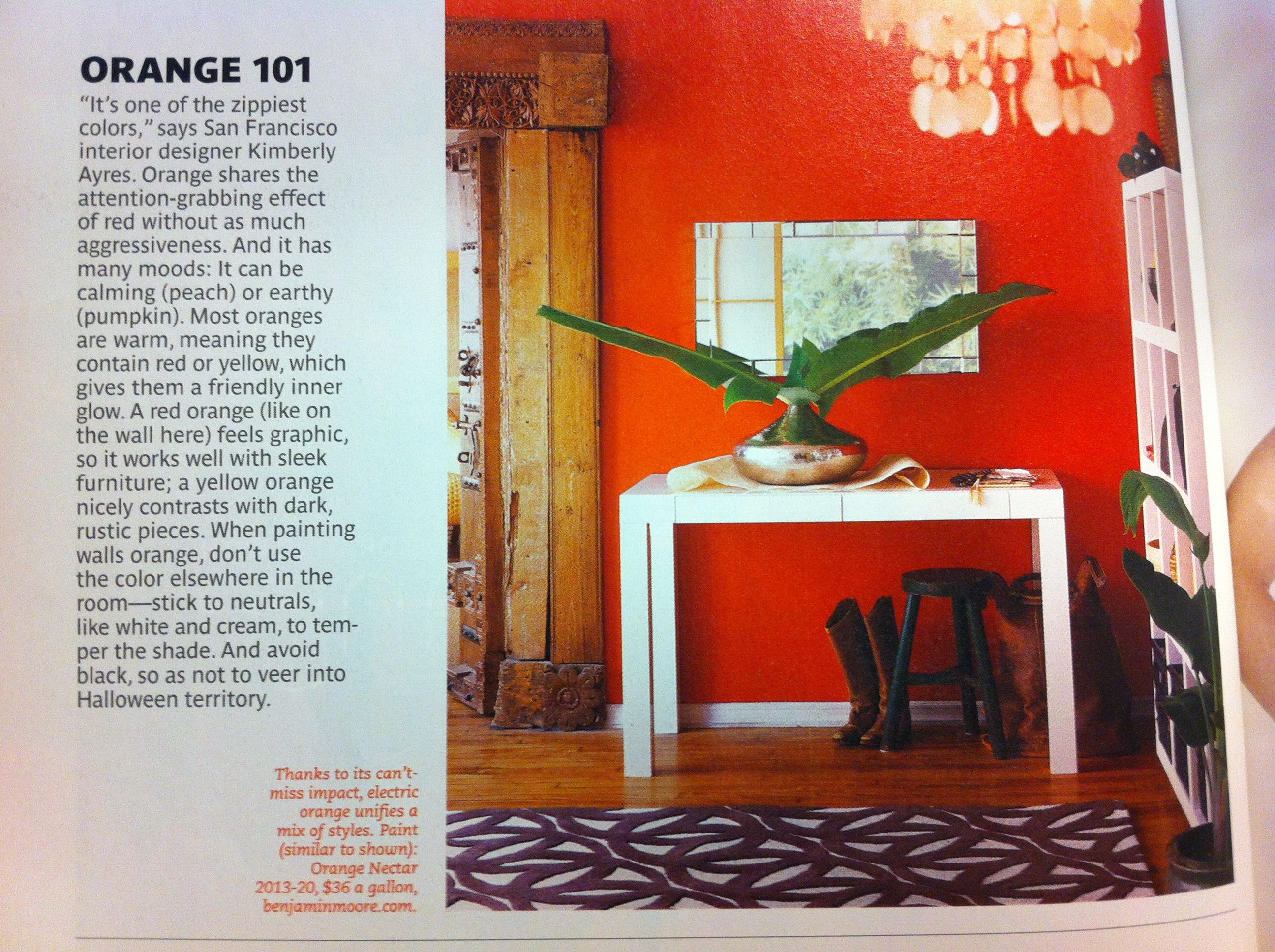 benjamin moore orange nectar walls | paint | pinterest | benjamin
