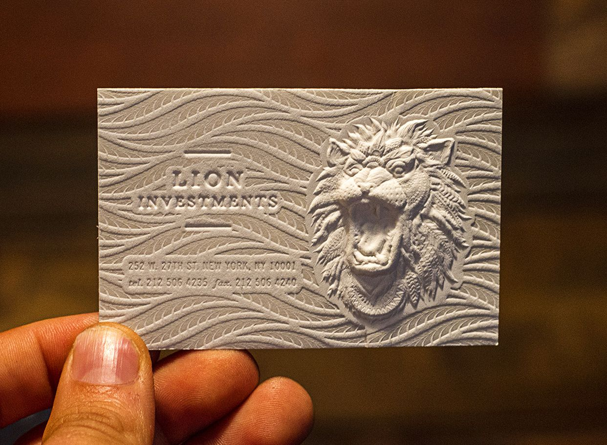 Complex 3D Embossed business card with letterpress. By ...