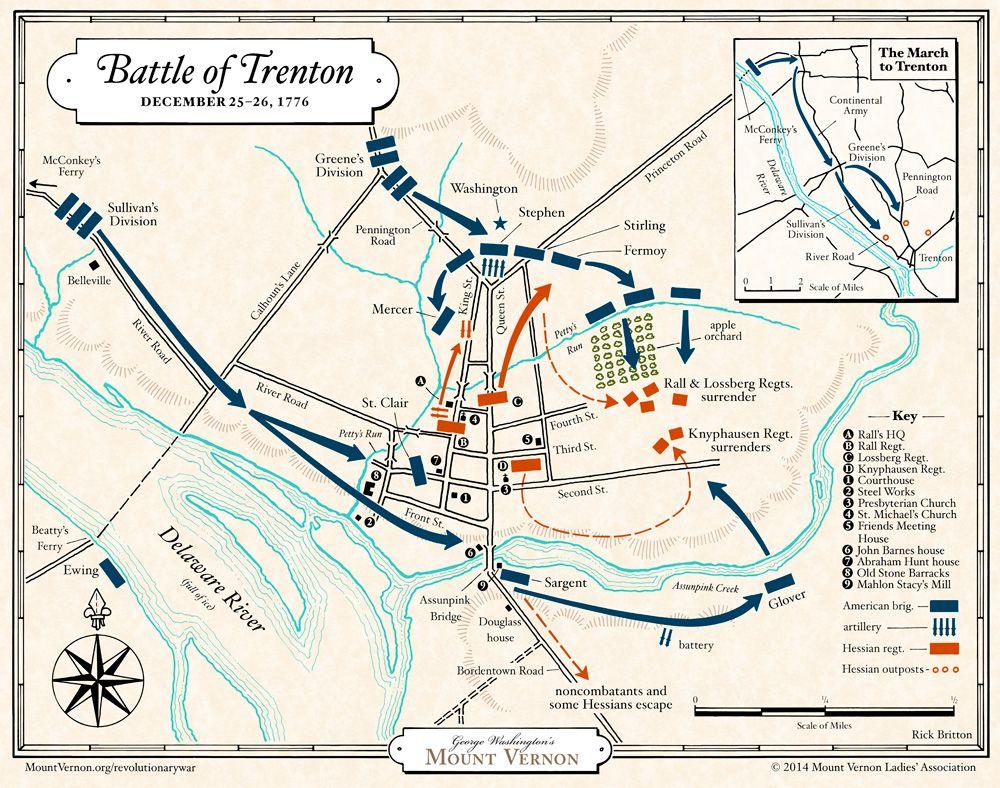 worksheet Revolutionary War Map Worksheet map battle of trenton george washingtons mount vernon social revolutionary war